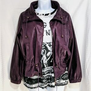 Purple Snakeskin Zip up Jacket